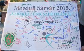 """A Sárvári Televízió összefoglalója a """"Kerekezzünk szertelenül!"""" rendezvényről"""