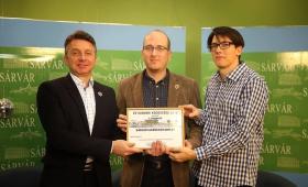 Az Év Sárvári Embere 2015 szavazás nyertesei a Sárvári Televízió Óévbúcsúztató műsorában