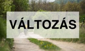 Túra időpont változás – Balaton-felvidék